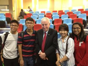 Kai Xiang and his friends with Dr. Peter C. Doherty