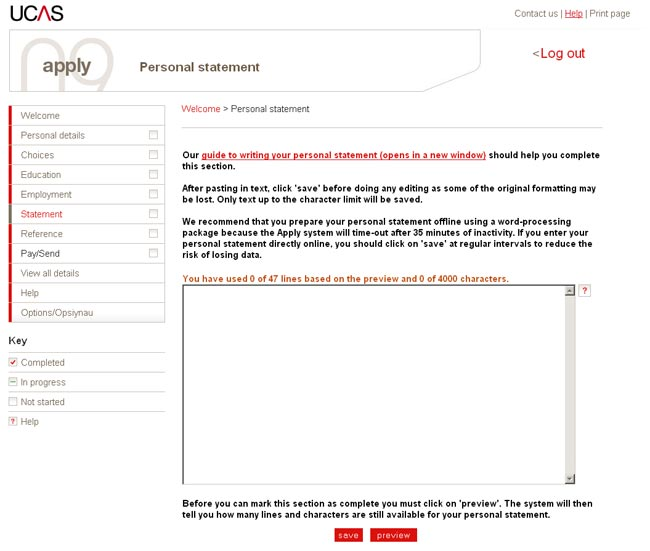 ucas application personal statement word limit